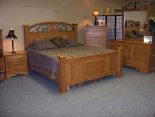 Four post bed with raised panels