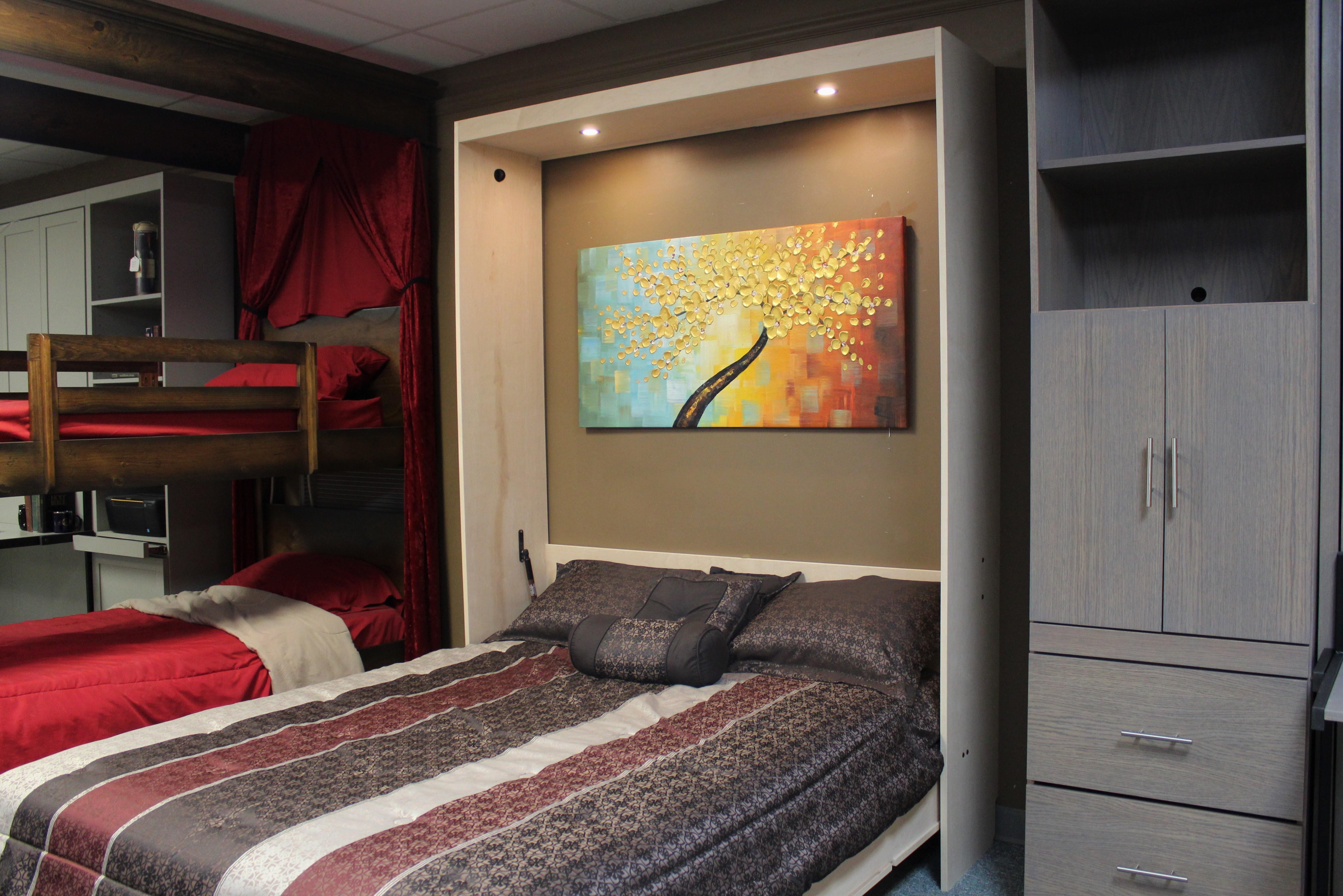 Murphy bed #131-0418 Bed Open