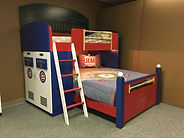 Loft or bunk with Chicago Cubs Theme
