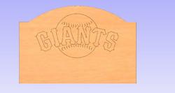 SF New York Giants Headboarsd
