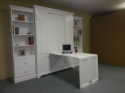 Murphy wall bed shown with the desk open