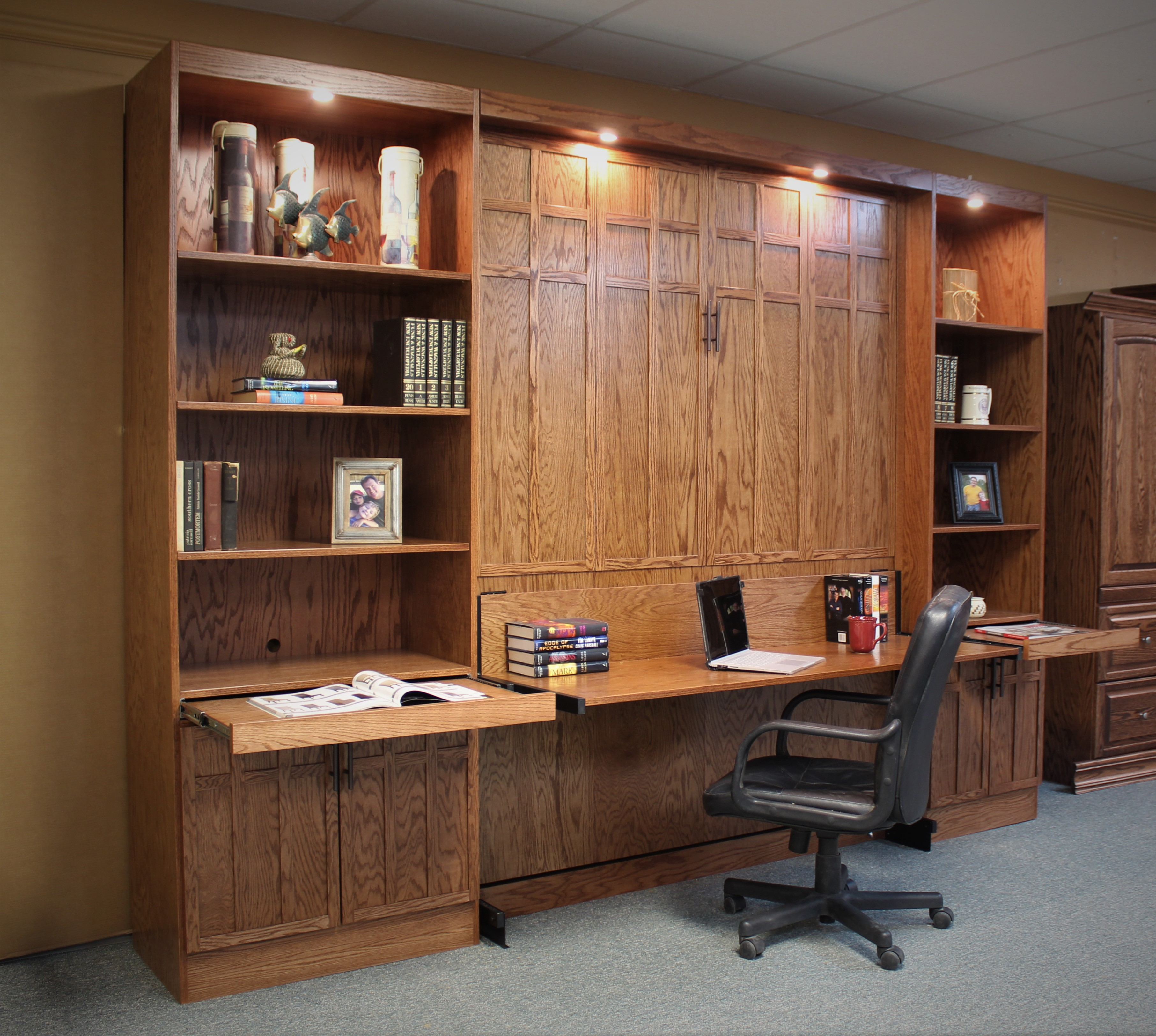 Style 124-0220 Murphy Bed with Desk