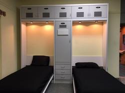 Locker Wall Two Beds