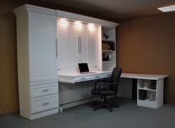 Templeton Desk White Closed Side