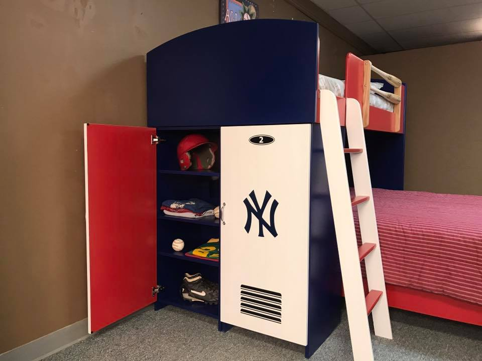Baseball Loft Yankees Lockers