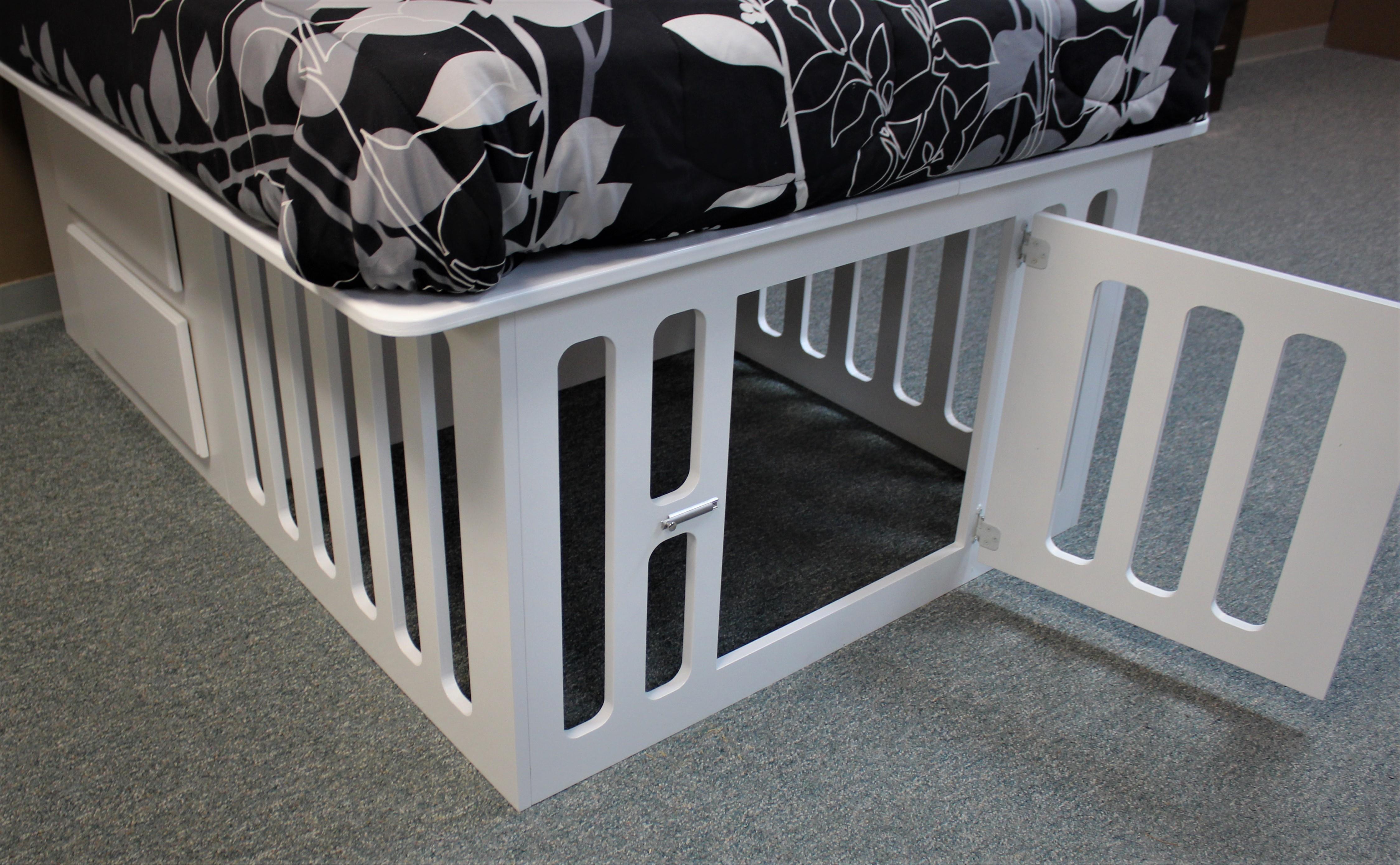 Kennel Bed Door Open