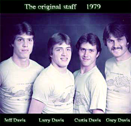 Photo of the original staff from 1979
