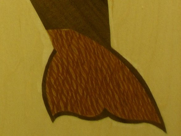 Whale Marquetry Tail