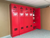 A folding wall bed designed to look like a Razorback Locker