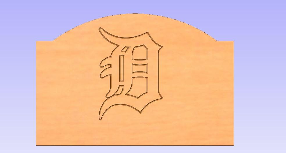 Detroit Tigers Headboard