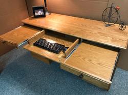 Oak Desk Pullouts