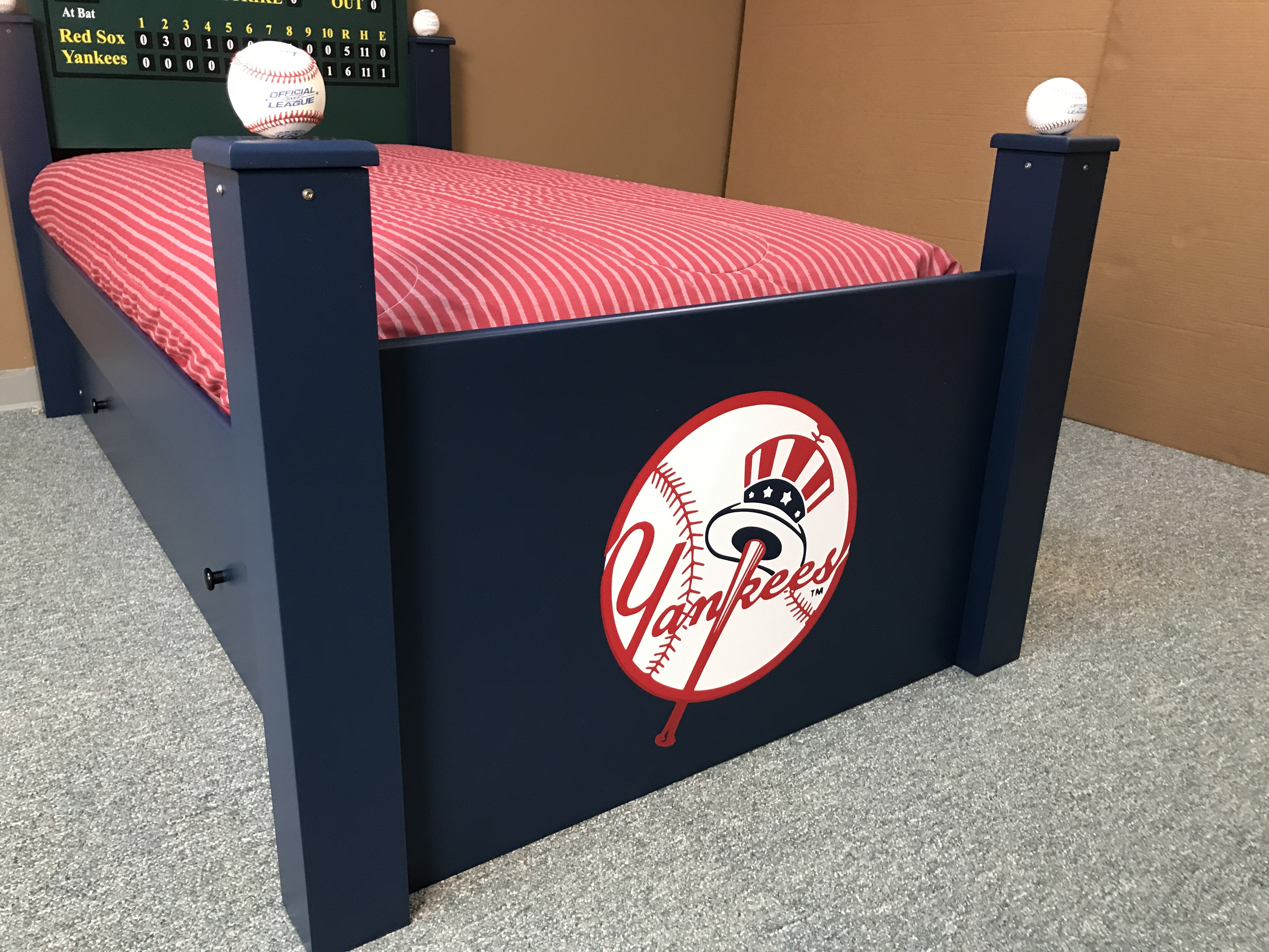 Baseball Trundle Bed Footboard
