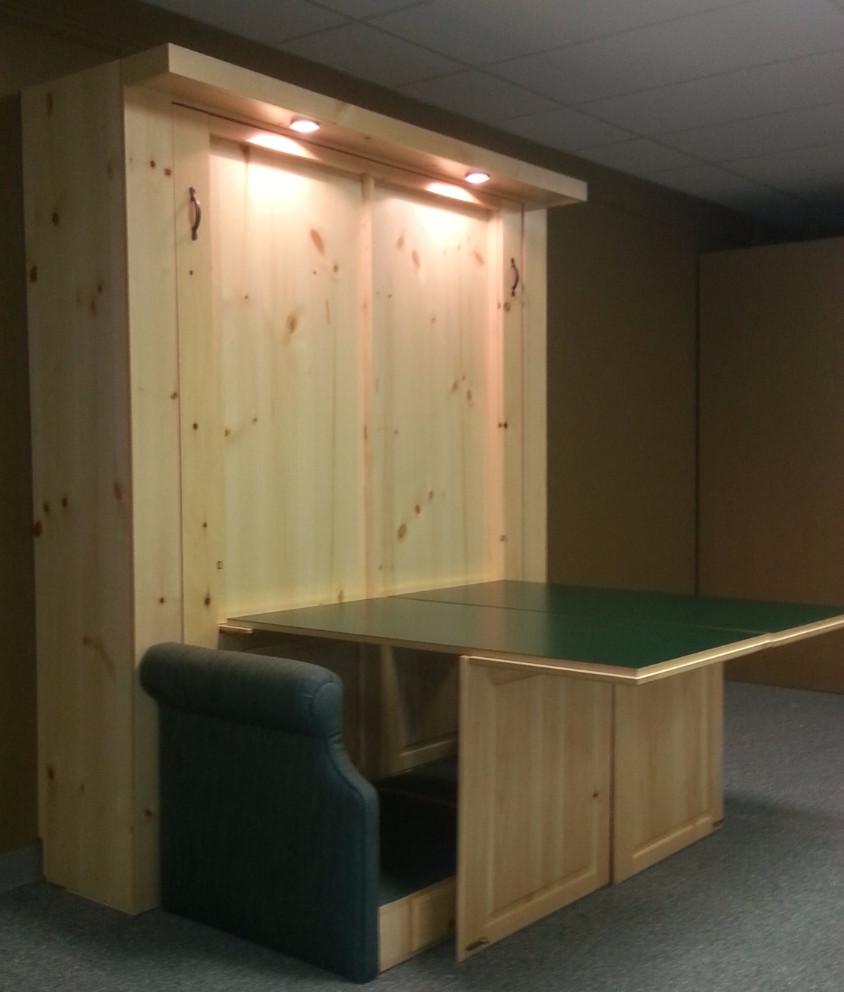 Murphy bed both desk open