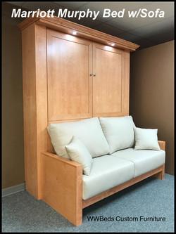 Marriott Murphy bed with sofa