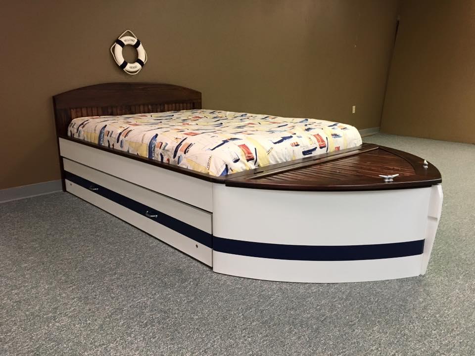 Boat Bed Full Flat Headboard
