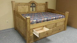Cross Rustic Daybed Drwer