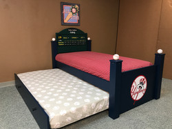 Baseball Trundle Bed Open