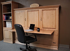 sideways murphy bed with raised panel face