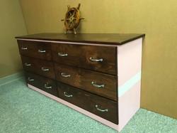 Nautical Dresser Pink and white