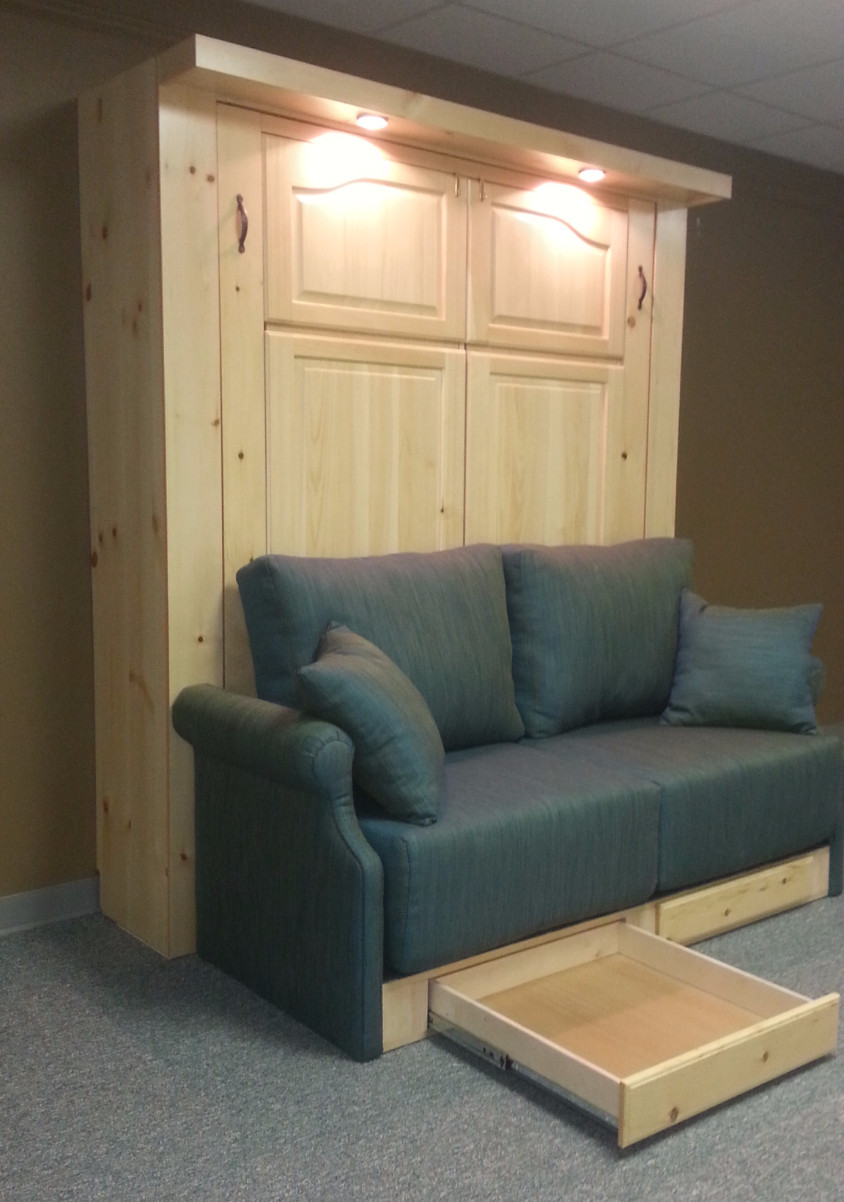 Murphy bed sofa drawers