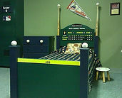 Baseball bed with bats on post