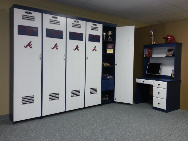 Atlanta Braves Locker Bed