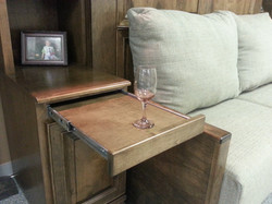 Bookcase pullout tray