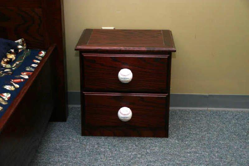 Hornsby Baseball Nightstand