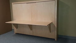 sideways murphy wall bed with desk