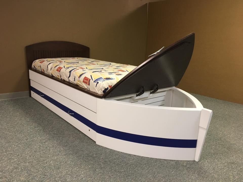 Boat Flat Headbobard Toy Box