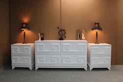 Greek Key Dresser and Nightstand