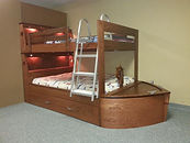 Bunk bed with a boat theme