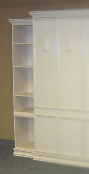 Example bookcase with all shelves