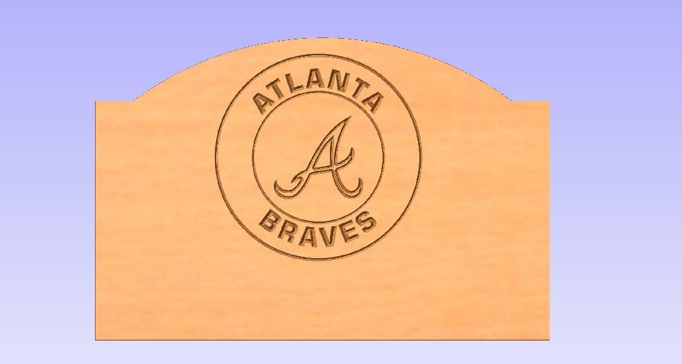 Atlanta Braves Headboard