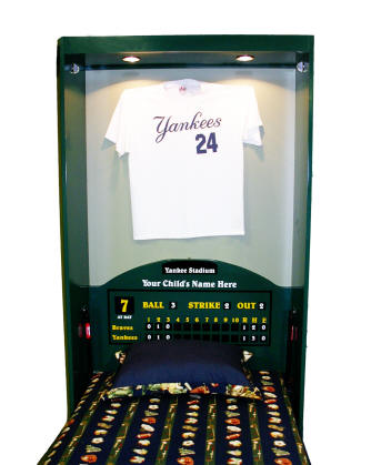 Standard Baseball Locker Open