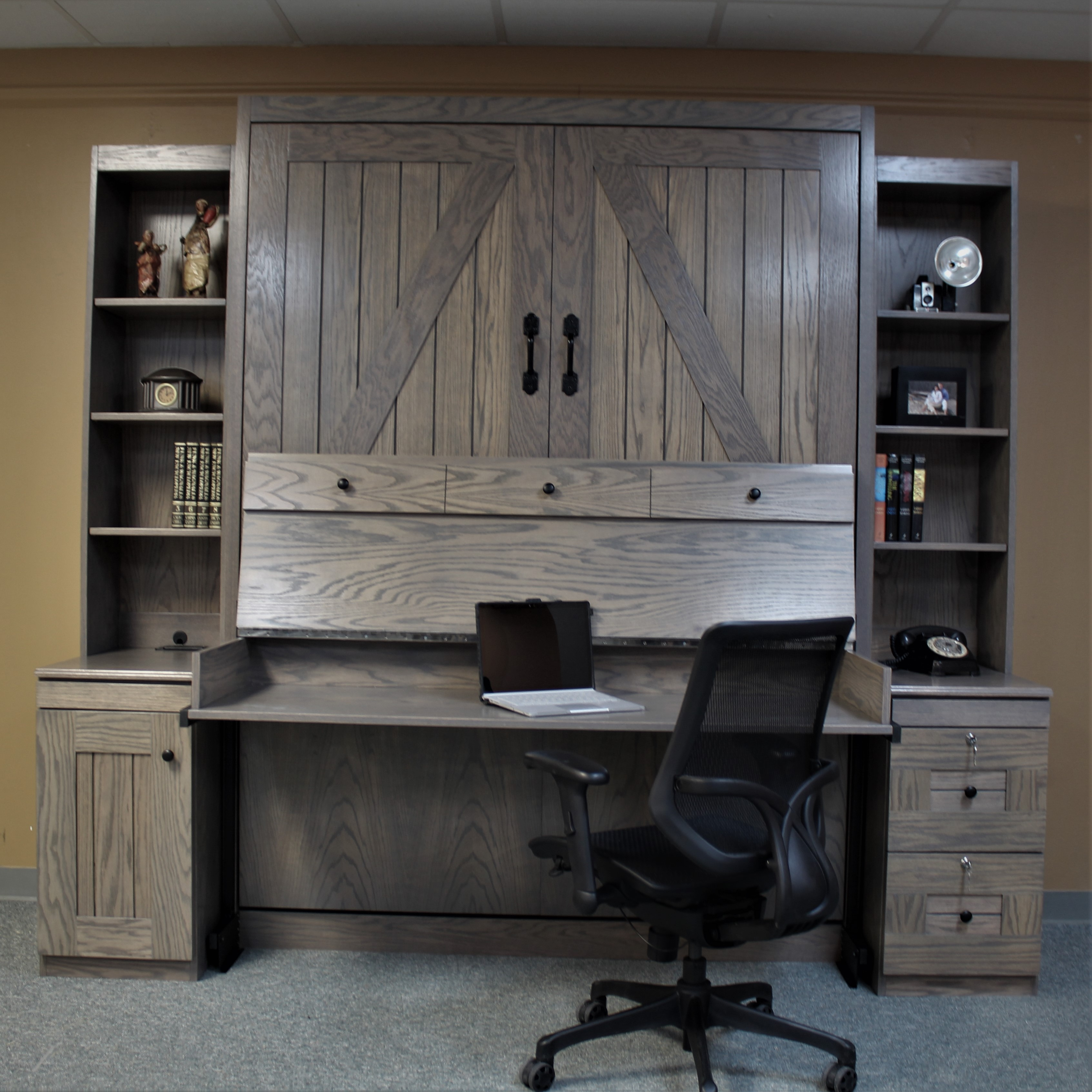 Barn Door Desk Open
