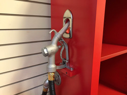 Gas Pump Bookcase Side