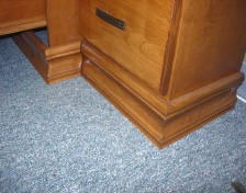 Standard base molding for murphy wall beds