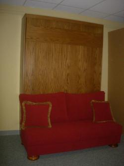 Armless Sofa Red