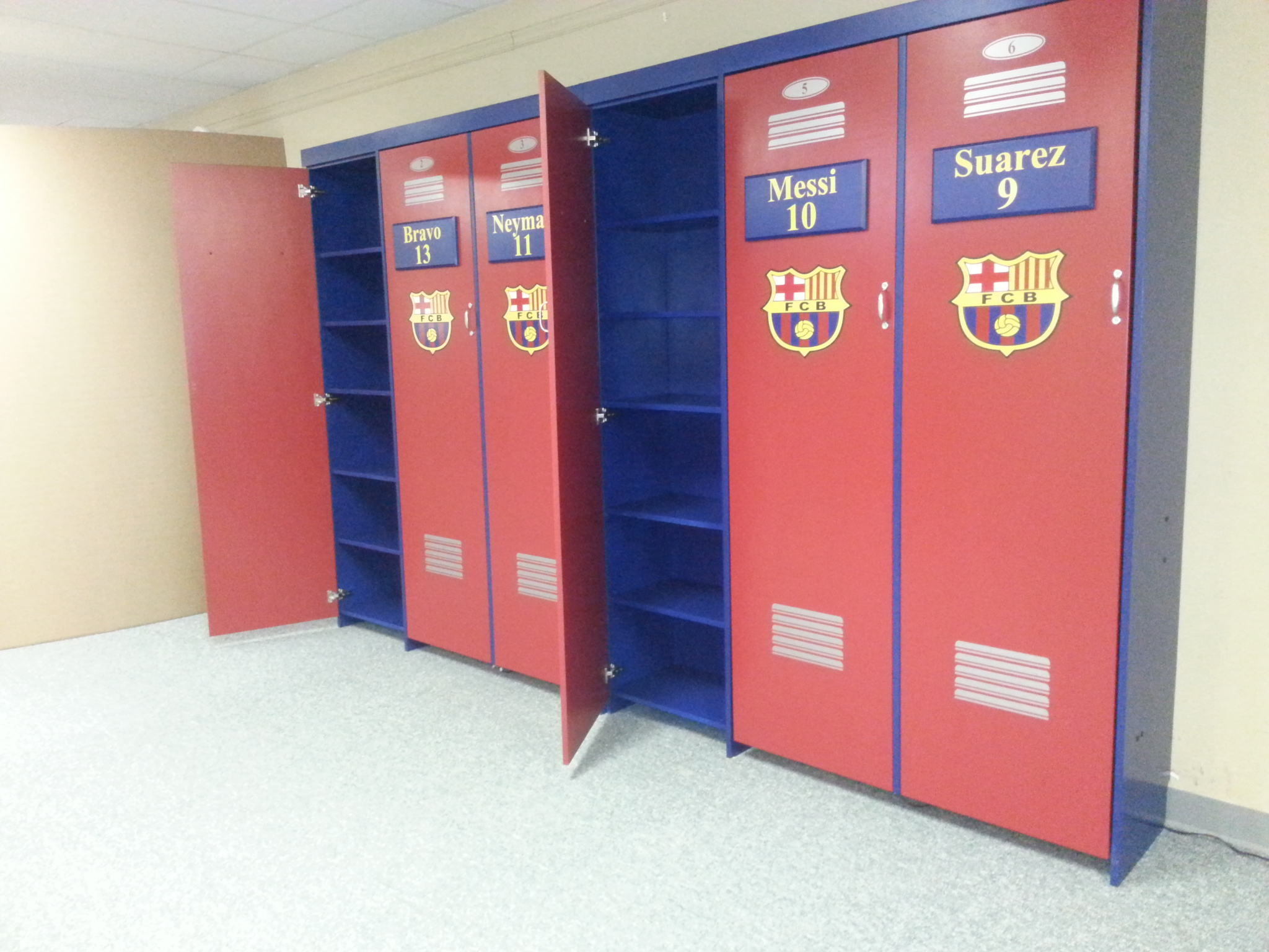 Soccer bookcase lockers