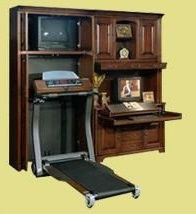 Bookcase to hide a treadmill