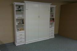 White Contempo Murphy w/Bookcases