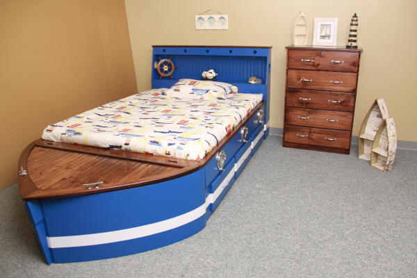Blue/White Boat with added Portholes