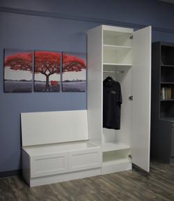 Custom Cabinet Window Unit Open