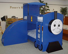 A bunk with Thomas the train theme.