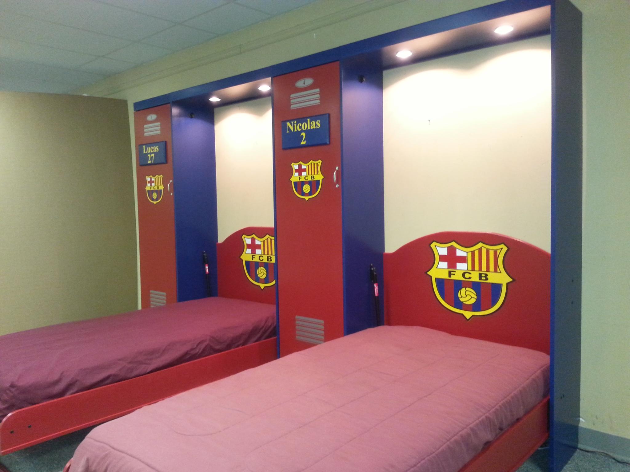 Soccer Murphy bed open