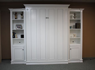 1124-0421 murphy bed with bookcases fron