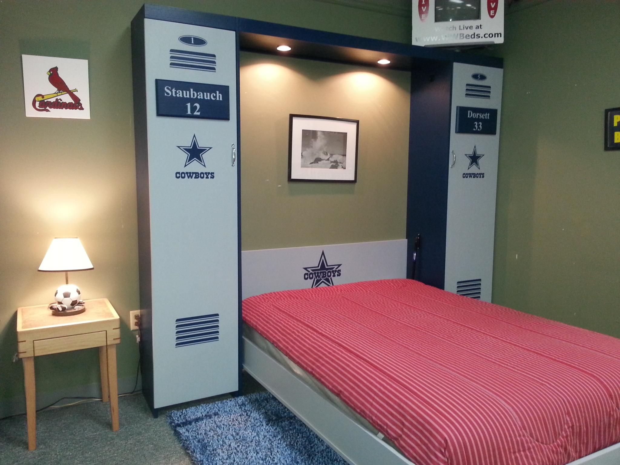 dallas cowboys locker murphy bed