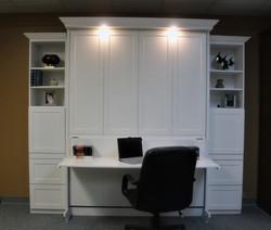 White Templeton Desk Closed