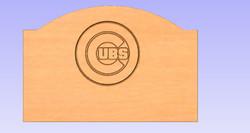 Chicago Cubs Headboard